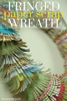 Fringed Paper Scrap Wreath