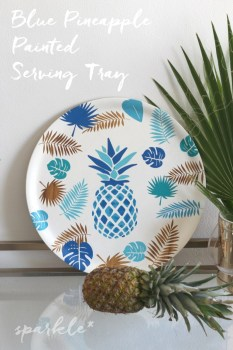 Painted Pineapple Serving Tray