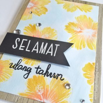 Hibiscus Batik Birthday Card