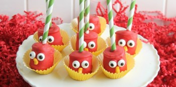 Angry Birds Marshmallow Pops