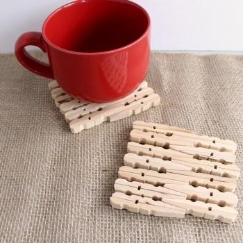 DIY Clothespin Trivets