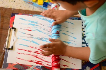 Kids Activity Paint with Yarn 03