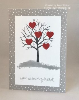 Sheltering Tree Valentine Card