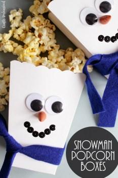 Snowman Popcorn Boxes