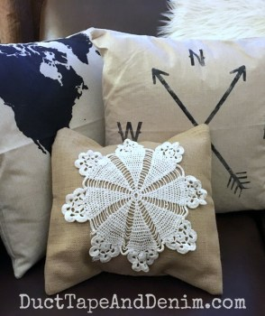 Doily Pillow Cover