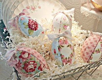 Easter Eggs From Fabric Scraps
