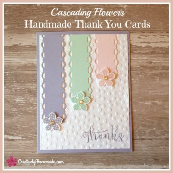 Cascading Flowers Thank You Card