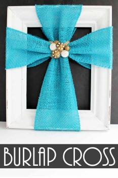 Burlap Cross Decor