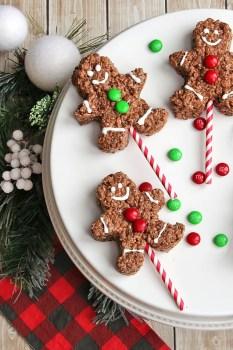 Chocolate Rice Krispie Cookies