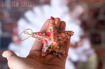 Fabric-Wrapped Ornaments