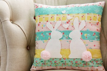 Bunnies In Love Pillow