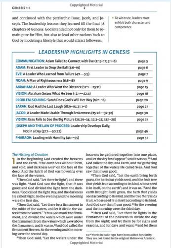 Maxwell Leadership Bible - Sample 1