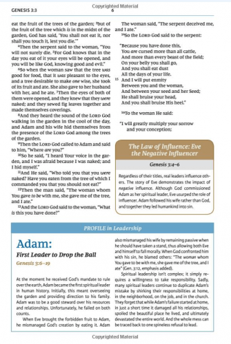 Maxwell Leadership Bible - Sample Page 2