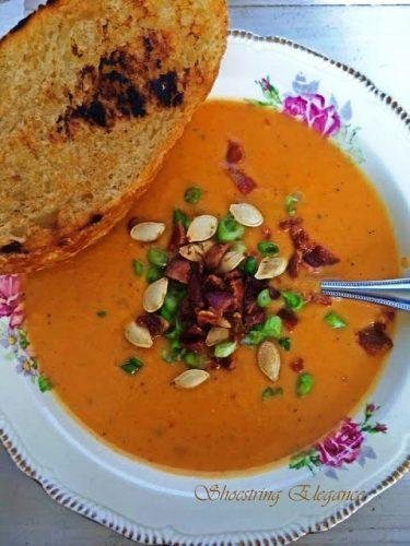 Roasted Savory Pumpkin Soup