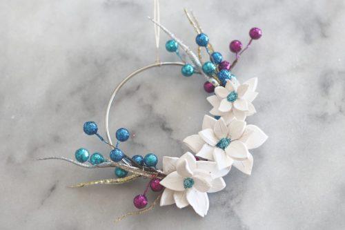Pointsetta Hoop Wreaths