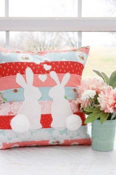 Spring Bunnies In Love Pillows