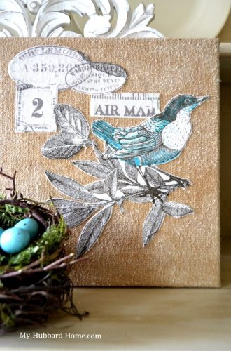 Decoupage Canvas Art