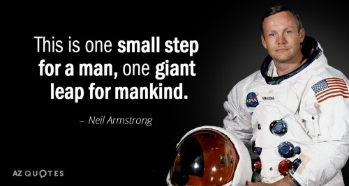 One Small Step Quote