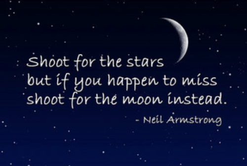 Neil Armstrong Shoot For The Moon Quote