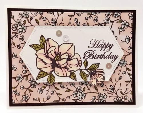 Magnolia Birthday Card