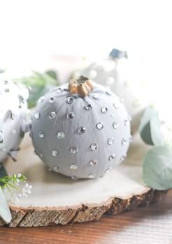 No Carve Jeweled Pumpkins
