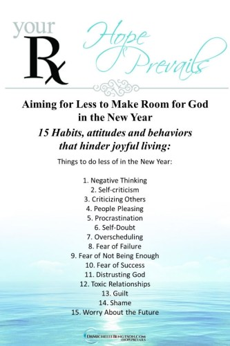Dr Michelle - 15 Habits That Hinder Joy