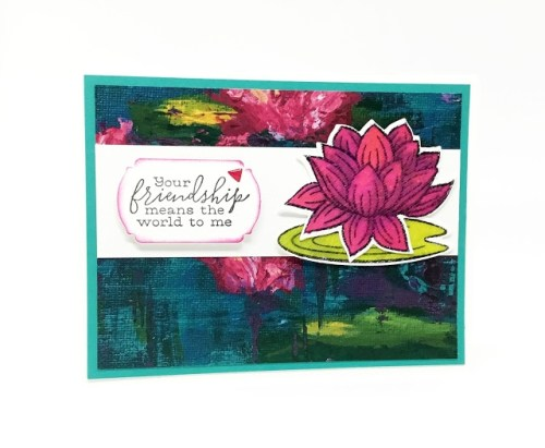 Water Lily Friendship Card