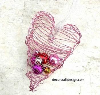 Valentine Wire Ornament