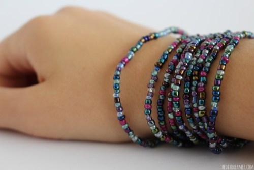DIY Glass Bead Wrap Bracelet