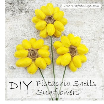 DIY Pistachio Sunflower Craft Project