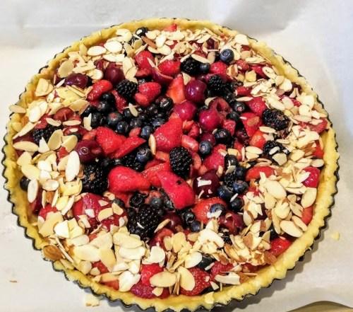 Berry Cherry Almond Tart