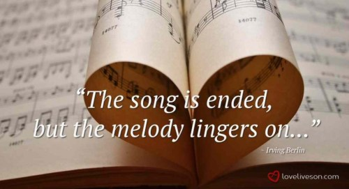 The Song Is Ended Quote 1