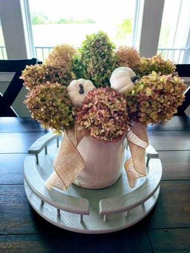 Fall Hydrangea Floral Arrangement