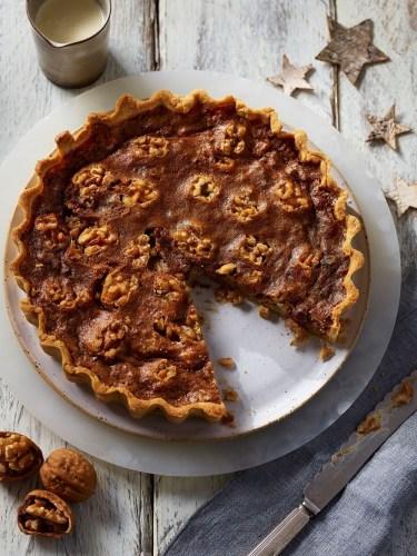 Walnut and Cranberry Pie