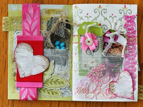 Spring Mini Album with Tags