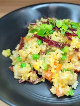 Teriyaki Beef Jerky Fried Rice