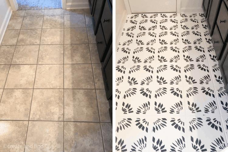 how to paint bathroom tile floors