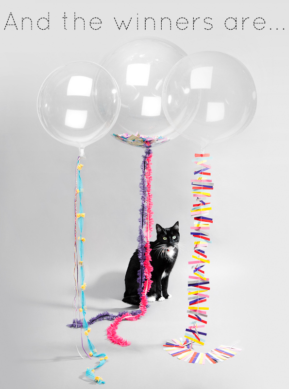 big balloons with cat