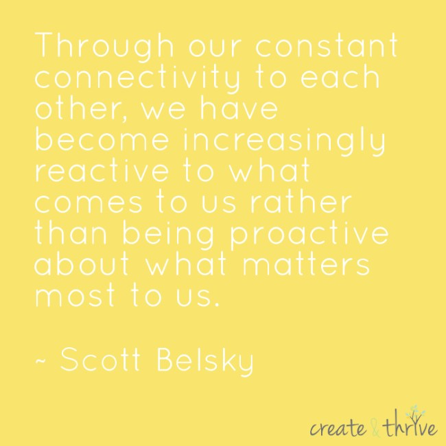 Scott Belsky - Proactive vs Reactive