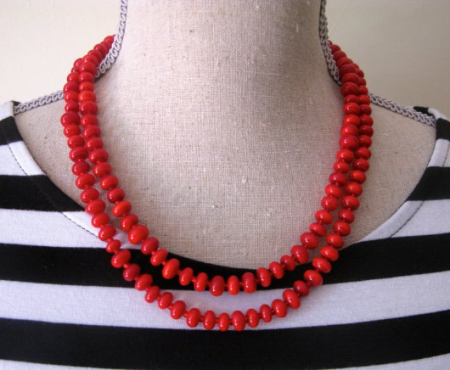 aussie jules red necklace
