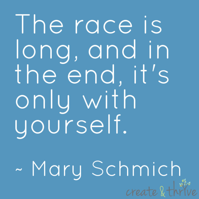 Mary Schmich - The Race is long - Low Res for Internet