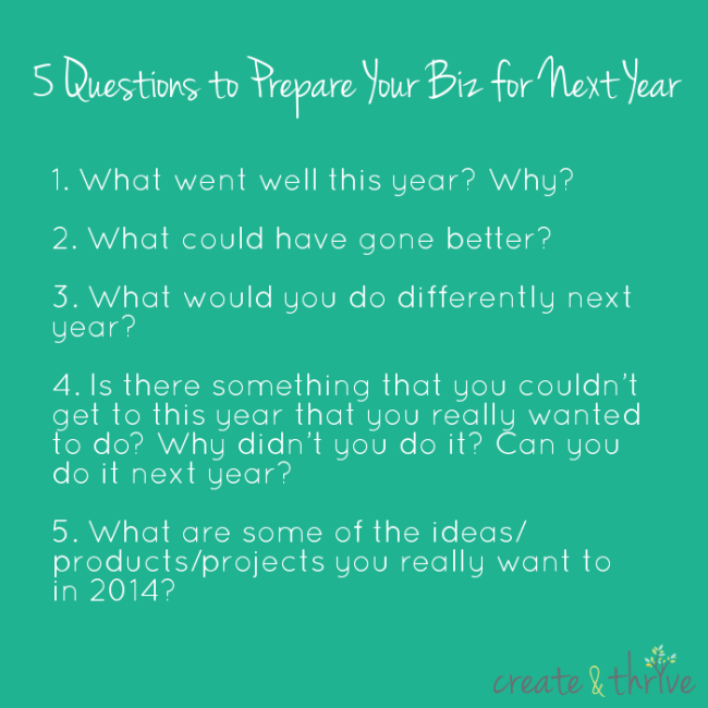 5 Questions to Prepare Your Biz for Next Year