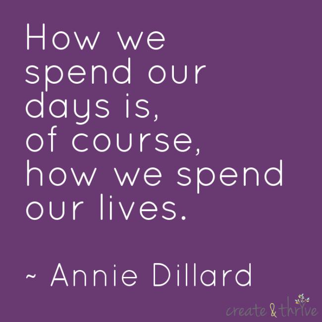 Annie Dillard - How we spend our days
