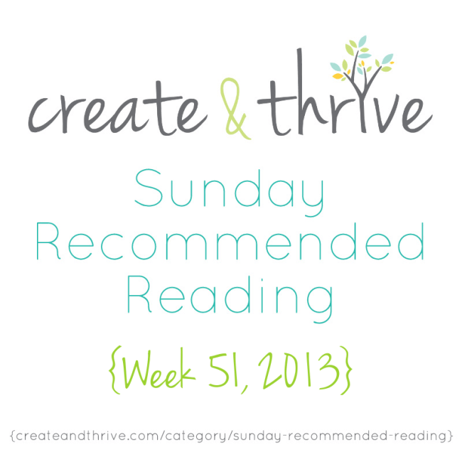C&T Recommended Reading week 51, 2013