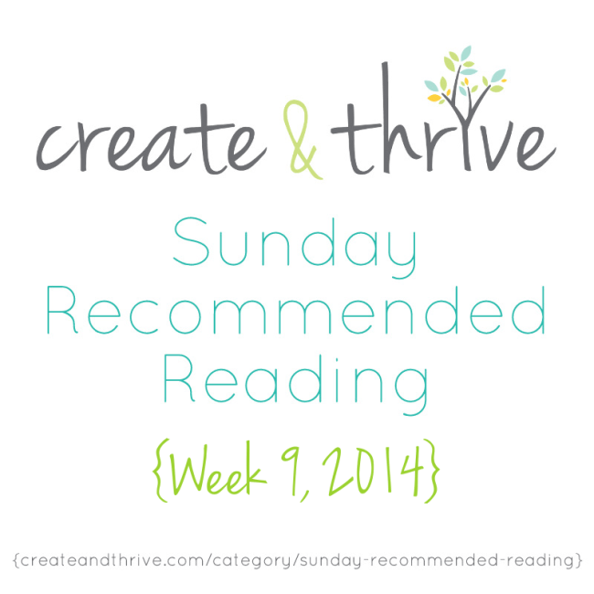 C&T Recommended Reading Week 9, 2014