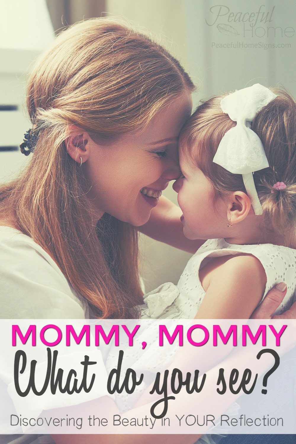 When I look in the mirror, I don't always like what I see. But becoming a mommy has made it more important than ever for me to improve my self-image.   Self image and motherhood.   Setting the right example for our daughters.   How to see yourself as beautiful.   Overcoming post-baby insecurity.