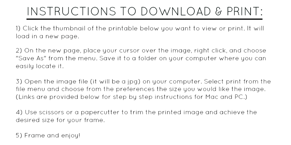 Instructions to download