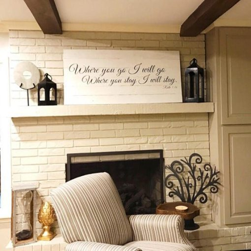 Where you go I will go, where you stay I will stay | Ruth scripture sign | Anniversary | Master bedroom wall decor | Extra Large Wall Art