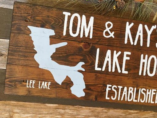 Casual First Name | Lake House Sign