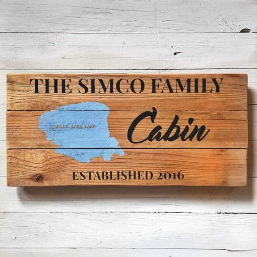 Raw Wood With Black Lettering | Reclaimed Wood Sign